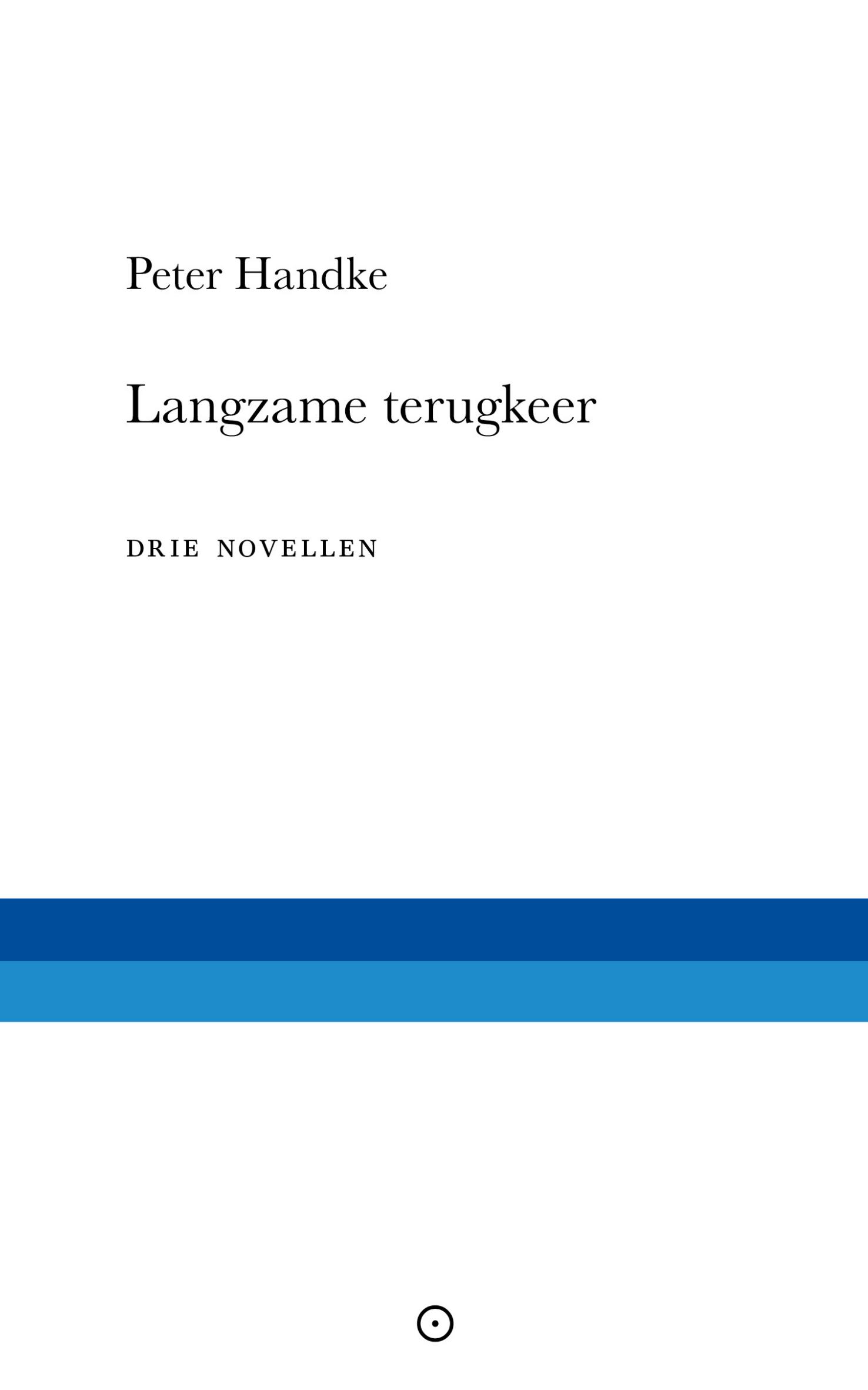 Langzame terugkeer – Peter Handke